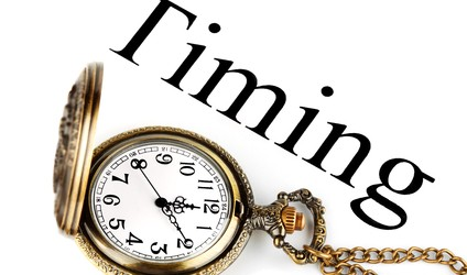 Pocket watch with timing sign
